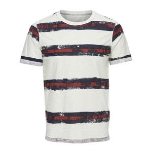 T-shirt scollo rotondo fantasia righe ONLY & SONS