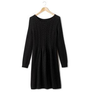 Long-Sleeved Flared Dress R essentiel