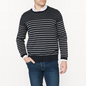 Jersey con cuello redondo a rayas 100% algodón R édition