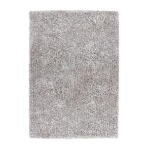 Tapis fait main shaggy argenté et blanc Style par Lalee ALLOTAPIS