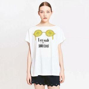 Tee shirt col rond imprimé, manches courtes MIGLE+ME