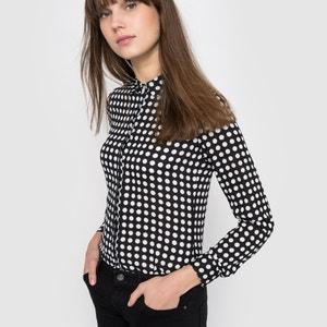 Polka Dot Long-Sleeved Button-up Shirt R édition