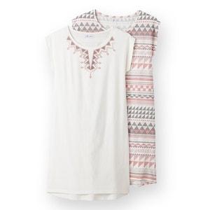 Camisa de dormir estampada (lote de 2) La Redoute Collections