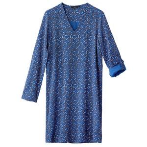 Bedrukte korte rechte jurk met lange mouwen VERO MODA