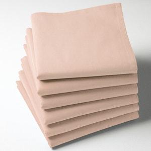 Pack of 6 100% Cotton Twill Plain Napkins SCENARIO