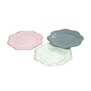 Set de 3 Assiettes en Plastique Effet Porcelaine Pique-Nique Chic WADIGA