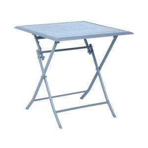 Table de jardin carrée Azua 2 places Bleu orage - Hespéride HESPERIDE