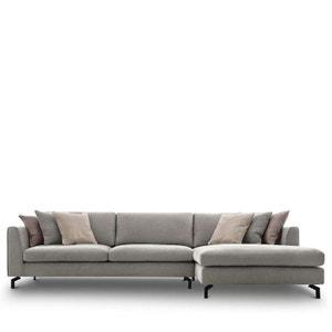 Canapé d'angle droit en tissu Linate DRAWER