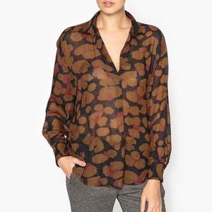 Блузка со сборками, с рисунком GOA