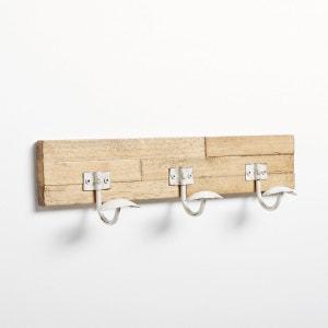 Hevea Wood and Metal Coat Hook Rack La Redoute Interieurs