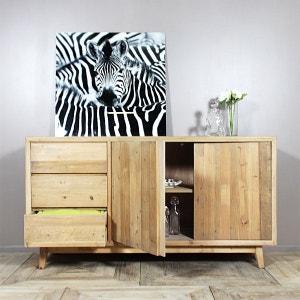 Buffet bois massif scandinave, 3 tiroirs, 2 portes  |  LOP98 MADE IN MEUBLES