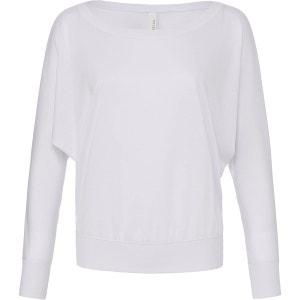 T-shirt manches longues encolure large BELLA & CANVAS