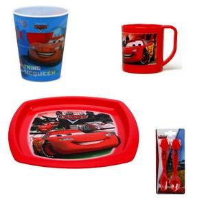 Cars Flash McQueen - kit 4 pieces Vaisselles et Couverts Repas Enfant DISNEY