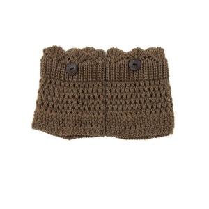 Mini Guêtre en crochet Marron BELLE EN COLLANT