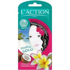 Masque Monoï  Apaisant & nourrissant - Tous types de peaux - 12 g L'ACTION PARIS