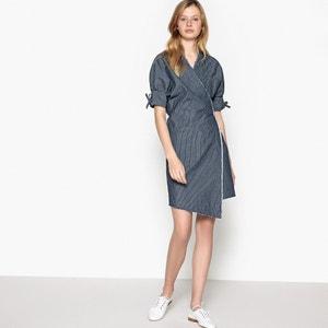 Striped Denim Wrap Dress La Redoute Collections