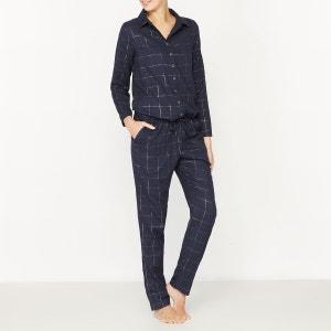 Combinaison-pyjama coton carreaux fils métallisés LOVE JOSEPHINE