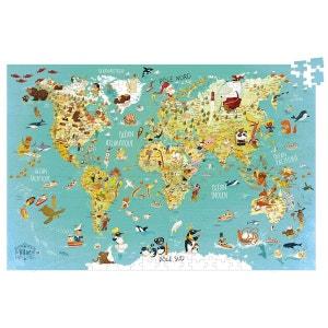 Puzzle 500 pièces : Carte du monde fantastique VILAC