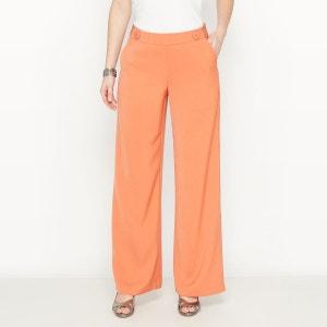Pantalon large, crêpe fluide ANNE WEYBURN