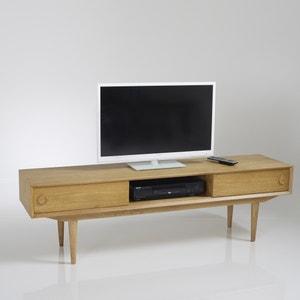 Mueble TV vintage, 2 puertas y 3 compartimentos, Quilda