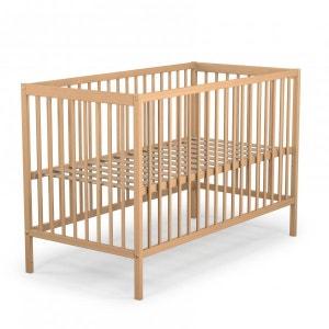 Lit bébé hauteur réglable bois naturel 60x120 - Terre de Nuit TERRE DE NUIT