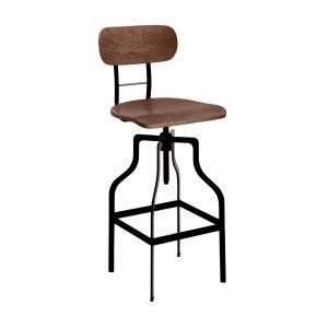 Chaise de bar Retro bois RENDEZ VOUS DECO