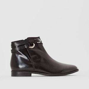 Boots cuir détail bride R studio