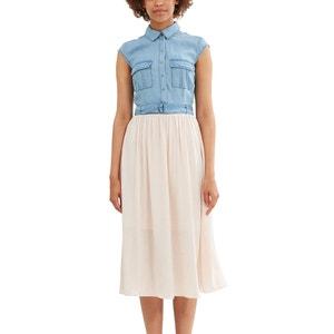 Sukienka 2 w 1: koszula dzinsowa + spódnica z pięknie układającego się materiału ESPRIT