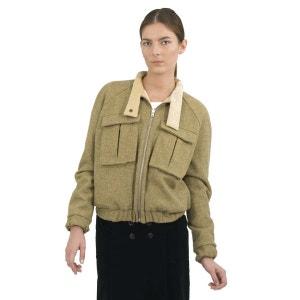 Blouson reversible laine velour blé DA/DA Diane Ducasse