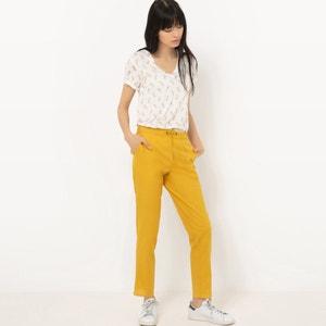 Lang T-shirt met V-hals en glanzende ananas print R édition