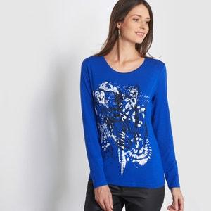 T-shirt z nadrukiem wykonany z pięknie układającej się dzianiny ANNE WEYBURN