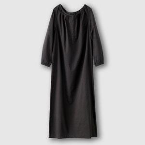 Cotton Voile Dress with Buttoned Neckline R édition