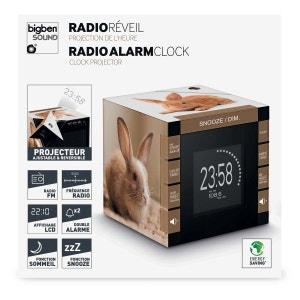 Radio Réveil cube projecteur décor Lapin BIG BEN