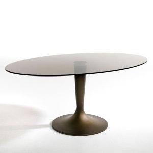 Table plateau ellipse verre fumé, Seona AM.PM