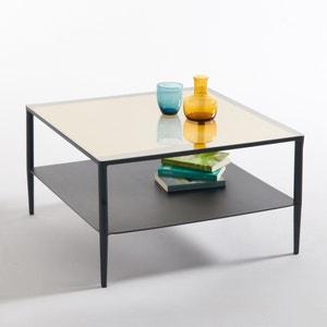 Mesa baja de acero y vidrio Razzi