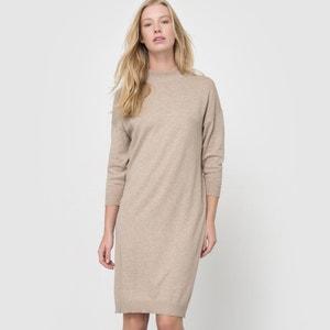Cotton and Cashmere High Neck Jumper Dress R essentiel