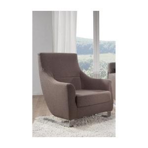 Buddy fauteuil en tissu design pieds en acier chromé SEANROYALE