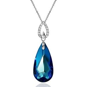 Collier BISHOJO Marquise SWAROVSKI ELEMENTS Argent 925 Bleu Bermudes SWAROVSKI ELEMENTS