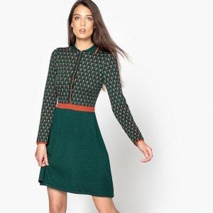 Robe à col, tricot, jacquard MADEMOISELLE R