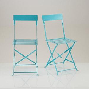 Folding metal chair, set of 2 La Redoute Interieurs