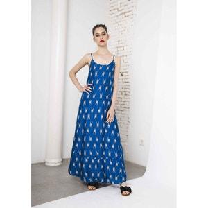 Długa sukienka z motywem żyrafy, cienkie ramiączka COMPANIA FANTASTICA