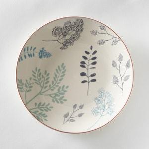 Set van 4 platte borden met plantenmotief La Redoute Interieurs