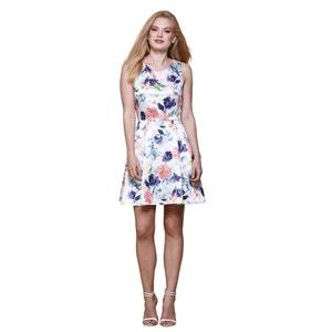 Vestido sem mangas, estampado floral YUMI
