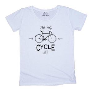 T-shirt Femme Cycle Shop P TIT VELO