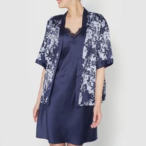 Conjunto camisa de dormir e quimono LOUISE MARNAY
