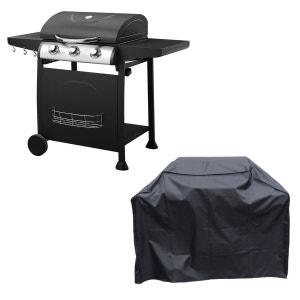 Barbecue au gaz 3 brûleurs Arkansas + housse HAPPY GARDEN
