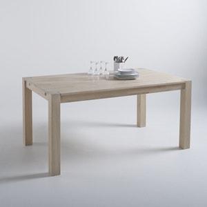 Table rectangulaire 2 rallonges, chêne massif, 6 à 8 couverts Adelita La Redoute Interieurs