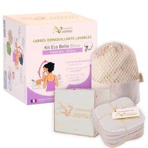 15 cotons démaquillants lavables en eucalyptus Kit ecobelle bois LES TENDANCES D EMMA