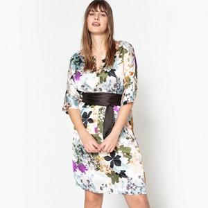 Floral Print Belted Kimono Dress CASTALUNA
