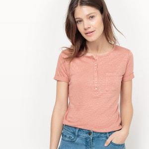 Tee-shirt en lin, manches courtes R studio